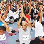 MOST PEOPLE PERFORMING SURYA NAMASKAR TOGETHER