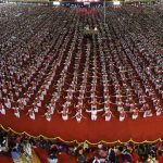 MOST PARTICIPANTS PERFORMING BHARATHANATYAM TOGETHER