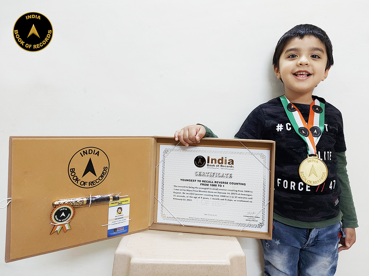 Youngest to recall reverse counting from 1000 to 1
