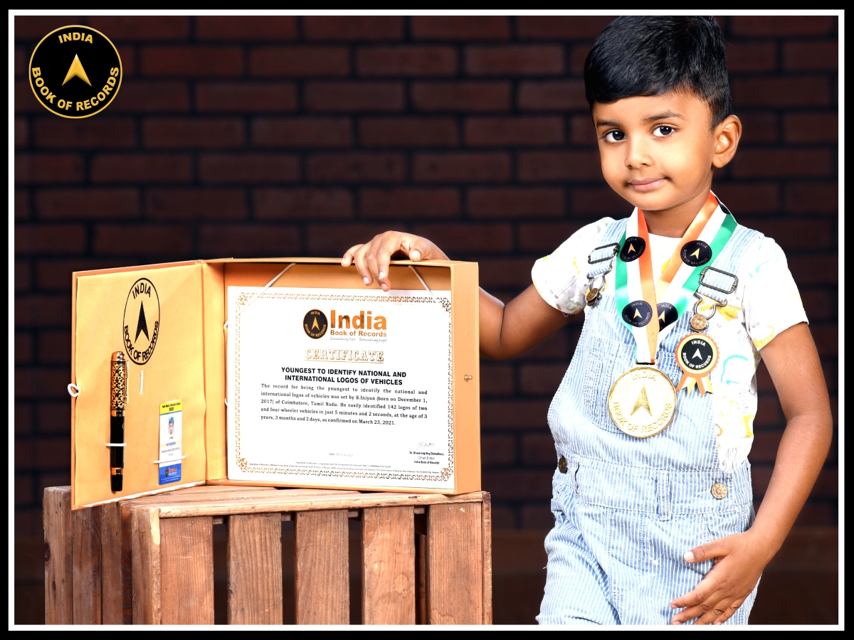 Youngest to identify national and international logos of vehicles