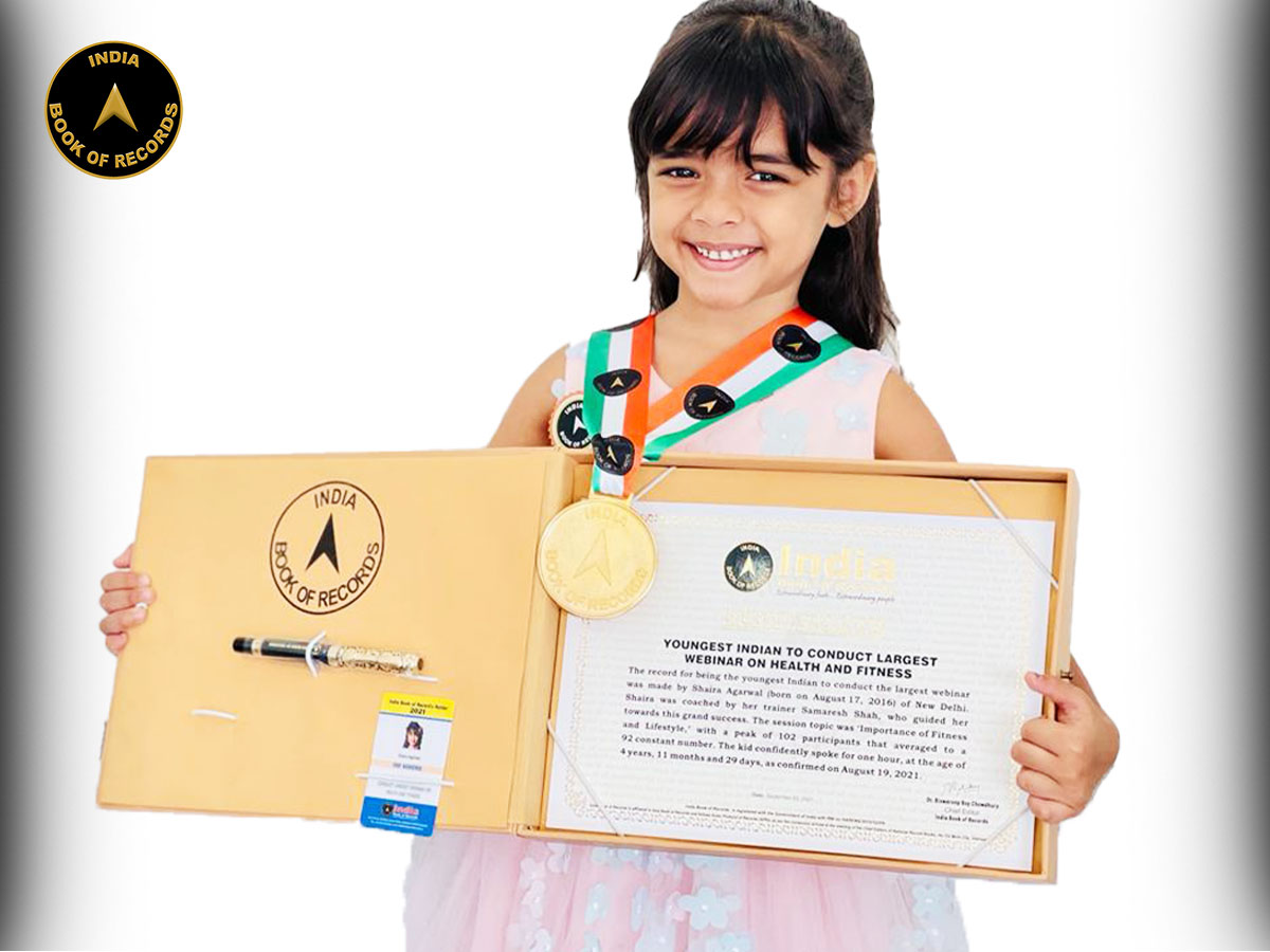 Youngest Indian to conduct largest webinar on Health and Fitness